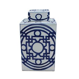 Square Geometric Tea Jar