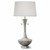 Textured Silver Lamp