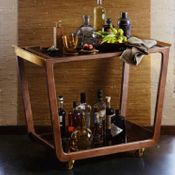 Walnut Bar Cart