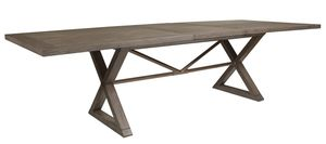 X Base Extension Dining Table