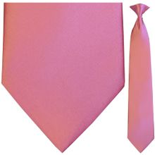 Men's Solid Carnation Pink Clip On Tie