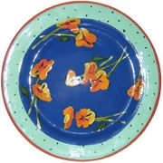 Betty's Pansies Dinner Plate