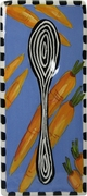 Black and White Vegetable Spoon Rest/Carrot