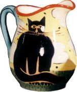Black Cat Large Pitcher