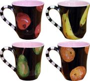 Black Fruit Mugs on Sale