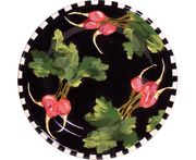 Black Radish Deep Salad Plate