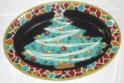 Christmas Tree Small Oval Platter