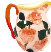 Coral Rose Large Pitcher
