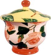 Coral Rose Small Covered Pot