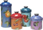 Denise's Dotted Fruit Canister Set