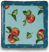 Denise's Dotted Fruit Square Plate/Apple