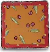 Denise's Dotted Fruit Square Plate/Cherry