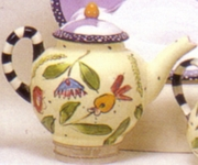 Flower/Cloud Small Tea Pot