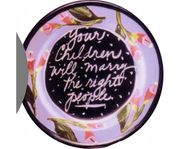 Flower Fortune Plate/People