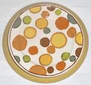 Gold Bouquet/Dots Dinner Plate
