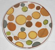 Gold Bouquet/Dots Salad Plate