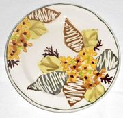 Gold Bouquet/Lilac Salad Plate