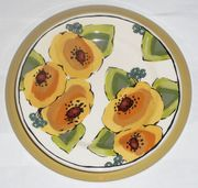 Gold Bouquet/Poppy Dinner Plate