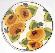 Gold Bouquet/Poppy Salad Plate