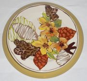 Gold Bouquet/Spray Dinner Plate