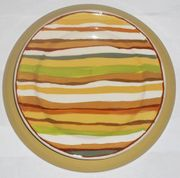Gold Bouquet/Stripes Dinner Plate