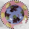 Grape/Pear Big Rimmed Bowl