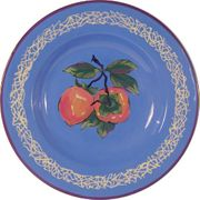 Fancy Fruit Salad Plate/Persimmon