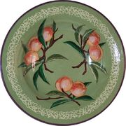 Fancy Fruit Big Rimmed Bowl/Peach