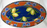 Blue Lemon Large Oval Platter
