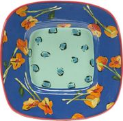 Betty's Pansies Small Square Platter