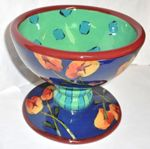 Betty's Pansies Pedestal Bowl