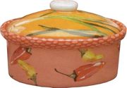 Pink Pepper Medium Oval Casserole