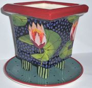 Water Lily Square Footed Planter