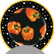 Night Shade/Orange Pepper/Dinner Plate