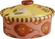 Pear Zinnia Medium Oval Casserole