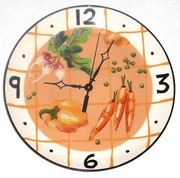 Plaid Vegetable Clock