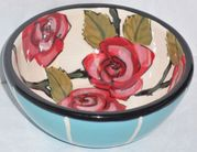 Red Rose Cereal Bowl