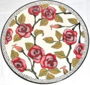 Red Rose Medium Platter