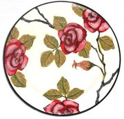 Red Rose Salad Plate