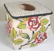 Red Rose Tissue Holder