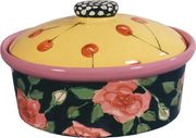 Rose Cherry Medium Oval Casserole