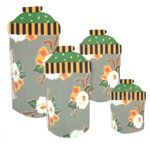 Sage Bouquet Canister Set of 4