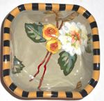 Sage Bouquet Small Square  Bowl