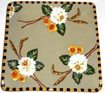 Sage Bouquet Square Dinner Plate