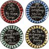 Saying Fortune Plate/ Set of 4