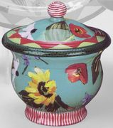 Spring Fling/Small Covered Pot