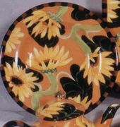 Sunflower Rimmed Dinner Plate