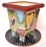 Truly/Madly/Deeply Square Footed Planter