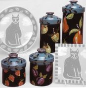 Winter Fruit-Canister Set of 4