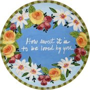 Wreath of Love- Unrimmed Dinner Plate-PERSONALIZED